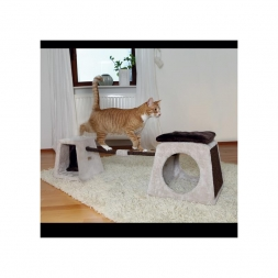 Trixie Cat Activity Balancier-Set lichtgrau/braun 175 × 35 × 40 cm