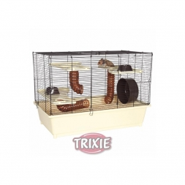 Trixie Hamsterkäfig 62 × 46 × 36 cm, creme braun