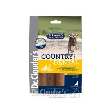 Dr. Clauders Dog Snack Country Dental Huhn Medium Breed 120g