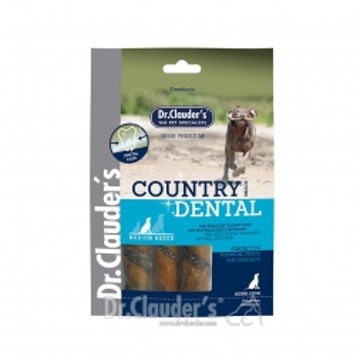 Dr. Clauder Dog Snack Country Dental Snack Fisch Medium Breed 100g