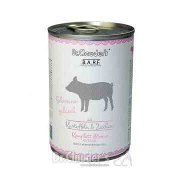 Dr. Clauders Barf Dog Komplettmenü Schweinegulasch 400g (Menge: 6 je Bestelleinheit)