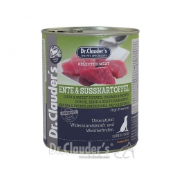 Dr. Clauders Dog Dose Selected Meat Ente & Süßkartoffel 800g (Menge: 6 je Bestelleinheit)