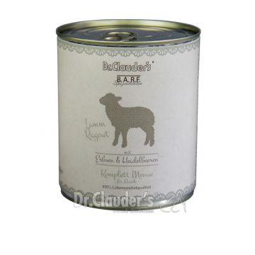 Dr. Clauders Barf Dog Komplettmenü Lammragout 800 g (Menge: 6 je Bestelleinheit)