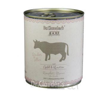 Dr. Clauders Barf Dog Komplettmenü Rinderteller 800 g (Menge: 6 je Bestelleinheit)