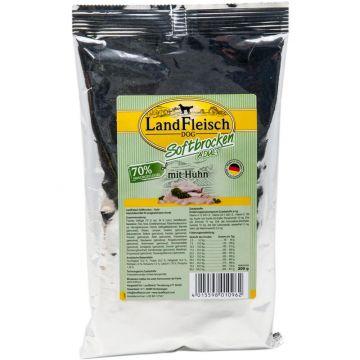 Landfleisch Dog Softbrocken mit Huhn   200g