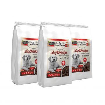 Landfleisch Dog Softbrocken mit Pferd getreidefrei 3 x 5 kg