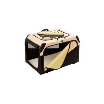 Hunter Hundetransportbox  XL beige/schwarz 106 x 71 x 69 cm / max. 40 kg