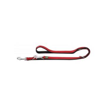 Hunter Verstellbare Führleine Neopren Rot/Schwarz 200 cm / 20 mm