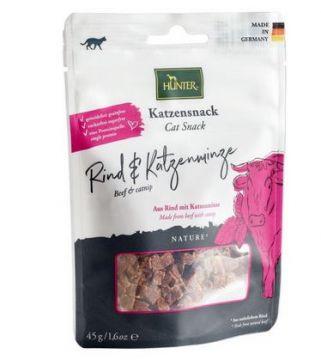 Hunter Katzensnack Rind & Katzenminze 45 g