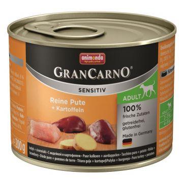Animonda GranCarno Adult Sensitive Pute+ Kartoffeln 200g (Menge: 6 je Bestelleinheit)