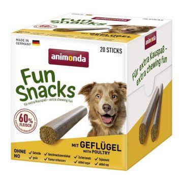 Animona Dog Fun Snacks mit Geflügel 20 Sticks