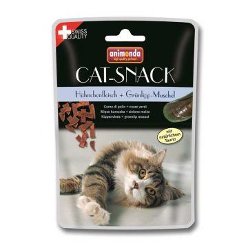 Animonda Cat-Snack Hühnchenfleisch & Grünlipp-Muschel 45g
