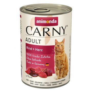Animonda Carny Adult Rind & Herz 400g (Menge: 6 je Bestelleinheit)