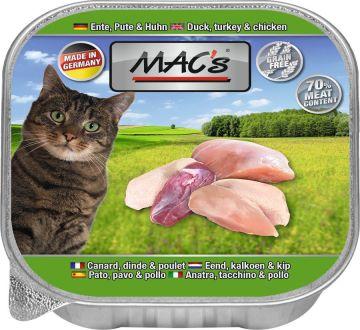 MACs Cat Ente, Pute &  Huhn 85g (Menge: 16 je Bestelleinheit)
