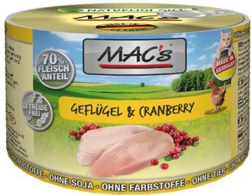MACs Cat Geflügel & Cranberry 200g (Menge: 6 je Bestelleinheit)