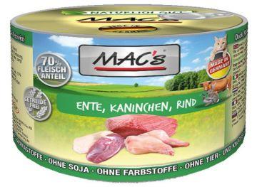 MACs Cat Ente, Kaninchen & Rind 200g (Menge: 6 je Bestelleinheit)