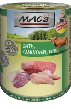 MACs Cat Ente, Kaninchen, Rind 400g (Menge: 6 je Bestelleinheit)