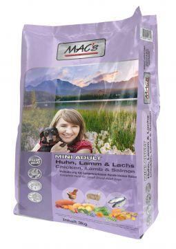 MACs Dog Adult Mini Huhn, Lamm & Lachs 3 kg
