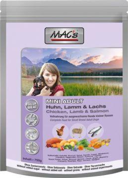 MACs Dog Adult Mini Huhn, Lamm & Lachs 750 g