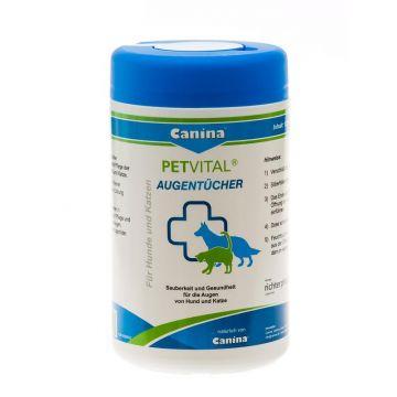 Canina Pharma PETVITAL Augentücher 120 Stück