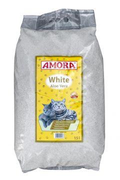 AMORA Katzenstreu White Compact Aloe Vera 15 l