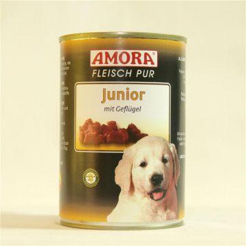 AMORA Dog Fleisch Pur getreidefrei Junior 400g (Menge: 6 je Bestelleinheit)