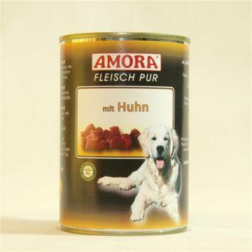 AMORA Dog Fleisch Pur getreidefrei Huhn 400g (Menge: 6 je Bestelleinheit)