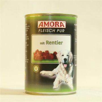 AMORA Dog Fleisch pur getreidefrei Rentier 400g (Menge: 6 je Bestelleinheit)