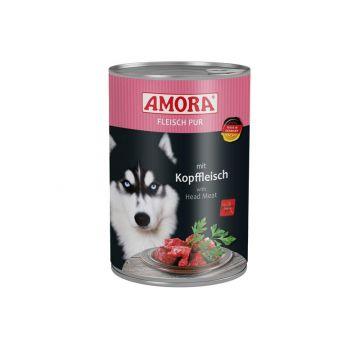 AMORA Dog Fleisch pur getreidefrei Kopffleisch 400g (Menge: 6 je Bestelleinheit)