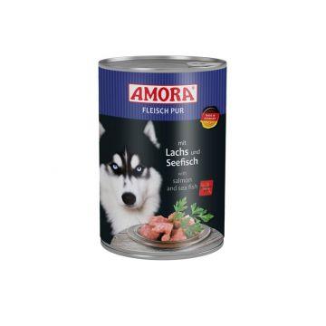 AMORA Dog Fleisch pur getreidefrei Lachs & Seefisch 400g (Menge: 6 je Bestelleinheit)