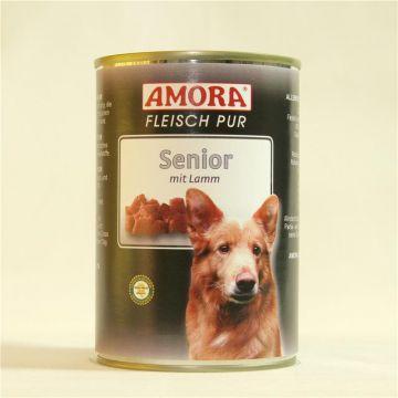 AMORA Dog Fleisch pur getreidefrei Senior Lamm 400g (Menge: 6 je Bestelleinheit)