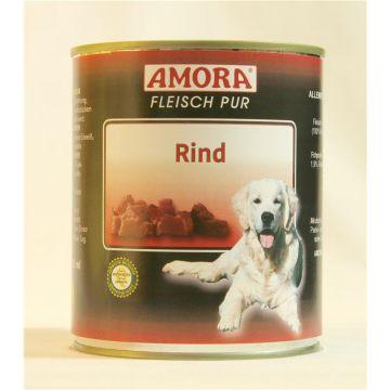 AMORA Dog Fleisch Pur getreidefrei Rind 800g (Menge: 6 je Bestelleinheit)