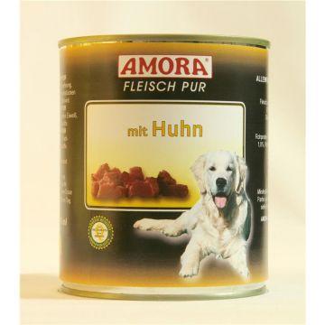 AMORA Dog Fleisch pur getreidefrei Huhn 800g (Menge: 6 je Bestelleinheit)