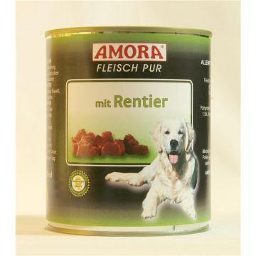 AMORA Dog Fleisch pur getreidefrei Rentier 800g (Menge: 6 je Bestelleinheit)