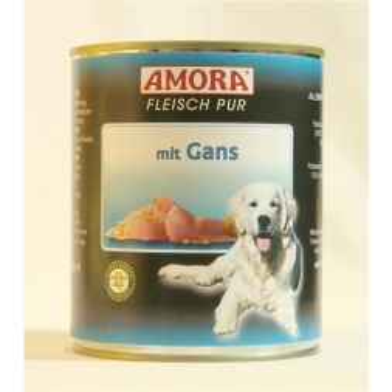 AMORA Dog Fleisch pur getreidefrei Gans 800g (Menge: 6 je Bestelleinheit)