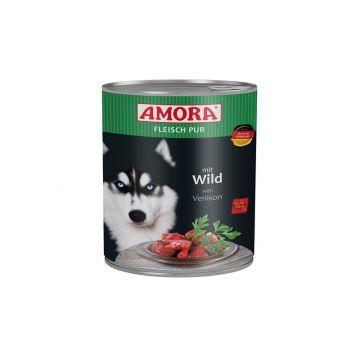 AMORA Dog Fleisch pur getreidefrei Wild 800g (Menge: 6 je Bestelleinheit)