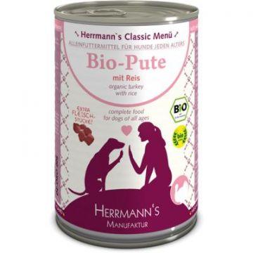 Herrmanns Dog Bio Pute, Reis, Karotte, Sellerie, Fenchel, Leinöl 400g (Menge: 12 je Bestelleinheit)