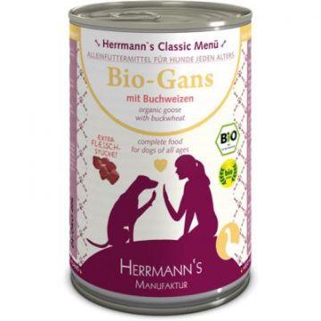 Herrmanns Dog Bio Gans, Buchweizen, Kokosflocken, Apfel, Leinöl 400g (Menge: 12 je Bestelleinheit)