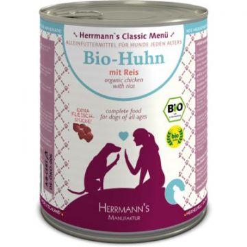 Herrmanns Dog Bio Huhn Reis, Karotte, Leinöl 800g (Menge: 6 je Bestelleinheit)
