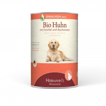 Herrmanns Dog Adult  Bio-Huhn, Fenchel Zucchini & Buchweizen 400g (Menge: 12 je Bestelleinheit)