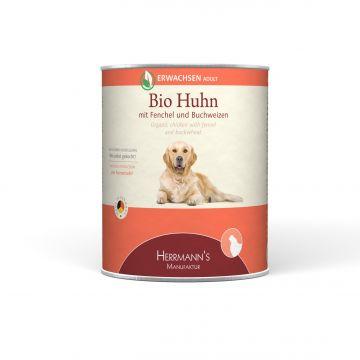Herrmanns Dog Adult  Bio Huhn,Fenchel, Zucchini & Buchweizen  800g (Menge: 6 je Bestelleinheit)