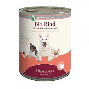 Herrmanns Dog Adult  Bio-Rind, Karotten, Amaranth & Sellerie 400g (Menge: 12 je Bestelleinheit)