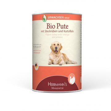 Herrmanns Dog Adult  Bio Pute, Steckrübe, Kartoffeln & Fenchel 400g (Menge: 12 je Bestelleinheit)
