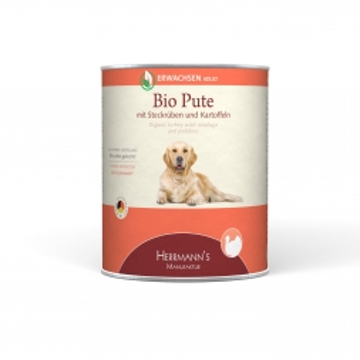 Herrmanns Dog Adult  Bio Pute, Steckrübe, Kartoffeln & Fenchel  800g (Menge: 6 je Bestelleinheit)
