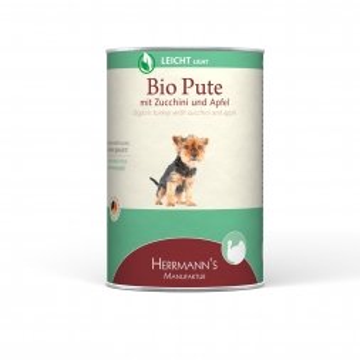 Herrmanns Dog Light Bio-Pute, Apfel, Zucchini & Salat 400g (Menge: 12 je Bestelleinheit)