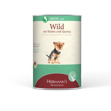Herrmanns Dog Light Wild, Kürbis, Quinoa & Cranberry 400g (Menge: 12 je Bestelleinheit)