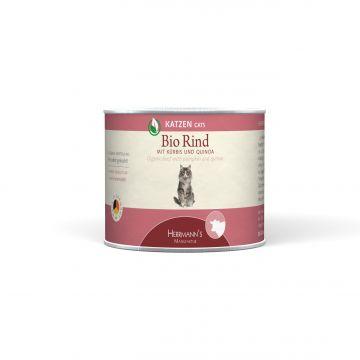 Herrmanns Cat Dose Bio-Rind, Quinoa & Kürbis 200g (Menge: 12 je Bestelleinheit)
