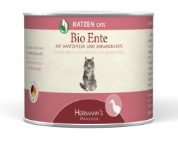 Herrmanns Katzenfutter Dose Bio-Ente 200g (Menge: 12 je Bestelleinheit)