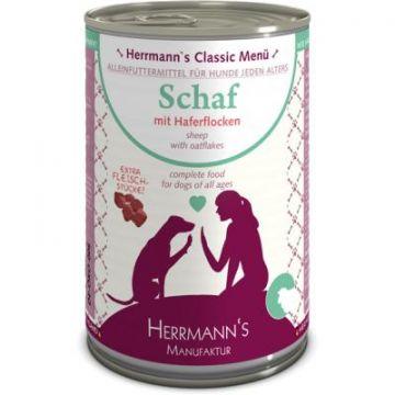Herrmanns Dog Bio Schaf mit Haferflocken 400g (Menge: 12 je Bestelleinheit)