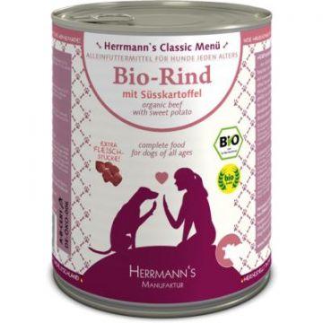 Herrmanns Dog Bio Rind, Süßkartoffeln, Zucchini, Kürbis, Fenchel, Leinöl 800g (Menge: 6 je Bestelleinheit)
